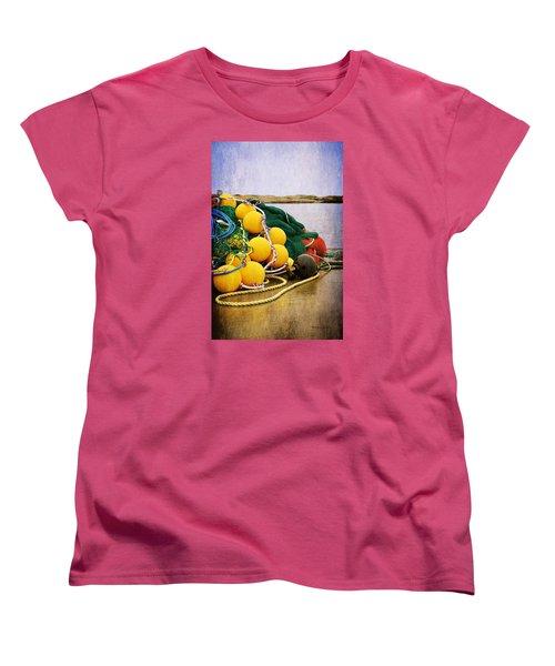 Fisherman's Net Women's T-Shirt (Standard Cut) by Randi Grace Nilsberg