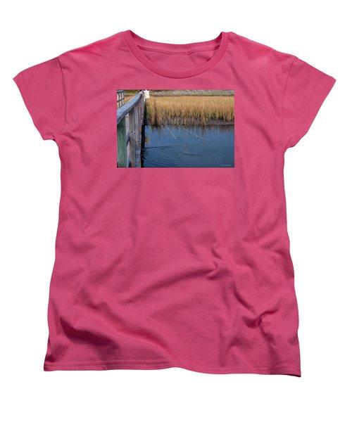 Fishin' Lines Women's T-Shirt (Standard Cut) by Kay Lovingood