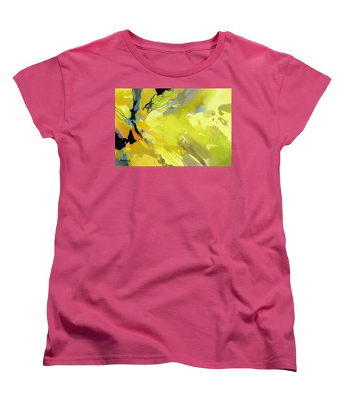 Women's T-Shirt (Standard Cut) featuring the painting Fissures Of Time by Rae Andrews