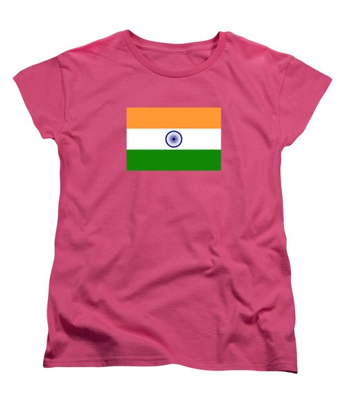 Flag Of India Authentic Version Women's T-Shirt (Standard Cut) by Bruce Stanfield