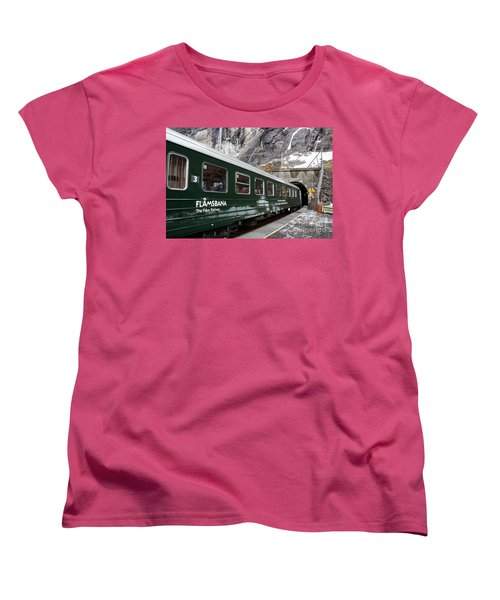 Flam Railway Women's T-Shirt (Standard Cut) by Suzanne Luft