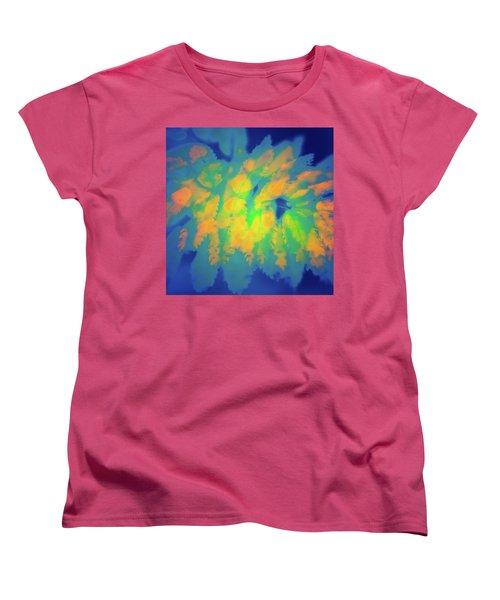 Women's T-Shirt (Standard Cut) featuring the photograph Flaming Foliage 2 by Ari Salmela