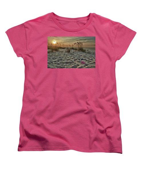 Flipflops On The Beach Women's T-Shirt (Standard Cut) by Michael Thomas