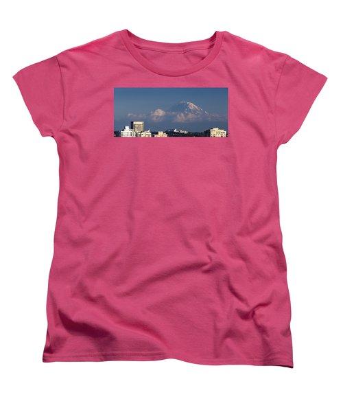Floating Mountain Women's T-Shirt (Standard Cut) by Ed Clark