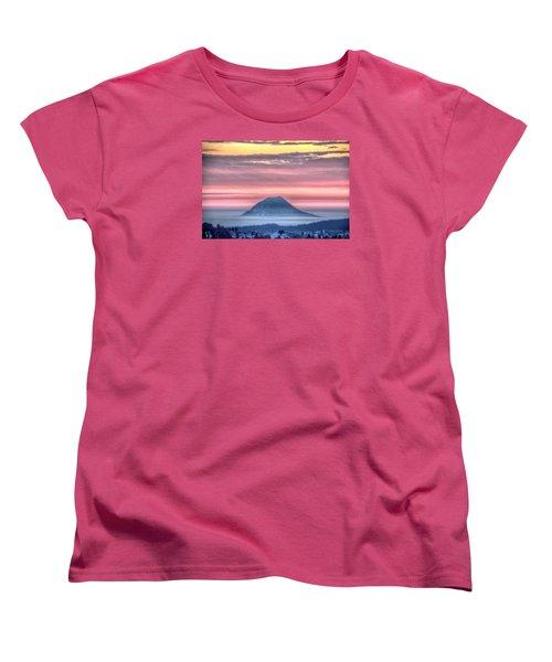 Floating Mountain Women's T-Shirt (Standard Cut) by Fiskr Larsen