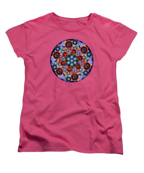 Flora Viscera Mandala Women's T-Shirt (Standard Cut) by Iowan Stone-Flowers