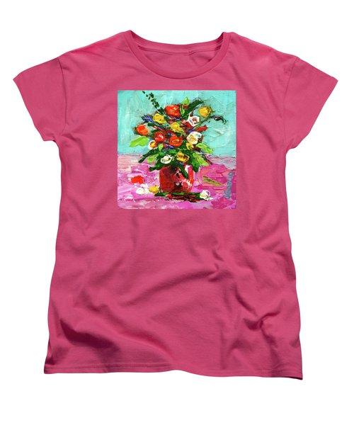Floral Arrangement Women's T-Shirt (Standard Cut) by Janet Garcia