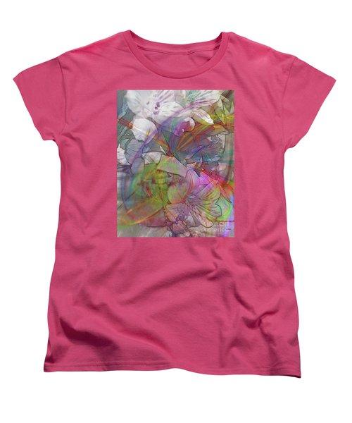 Floral Fantasy Women's T-Shirt (Standard Cut) by John Robert Beck