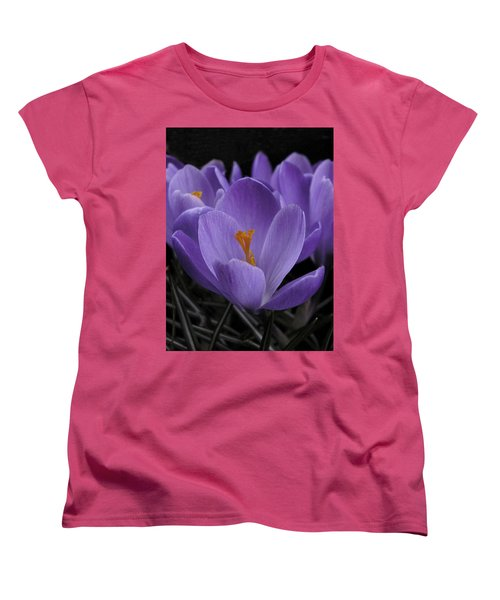 Women's T-Shirt (Standard Cut) featuring the photograph Flower Crocus by Nancy Griswold