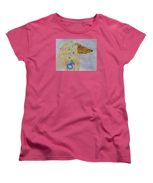 Flower Dog 10 Women's T-Shirt (Standard Cut) by Hilda and Jose Garrancho