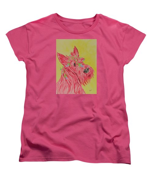 Flower Dog 6 Women's T-Shirt (Standard Cut) by Hilda and Jose Garrancho