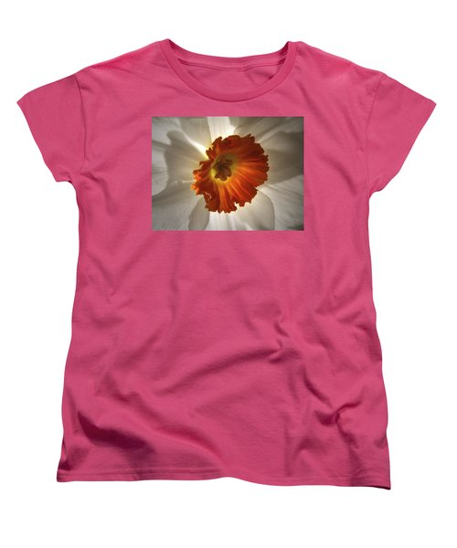 Women's T-Shirt (Standard Cut) featuring the photograph Flower Narcissus by Nancy Griswold