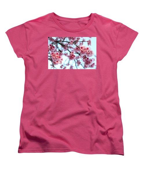 Women's T-Shirt (Standard Cut) featuring the photograph flowering of the almond tree, Jerusalem by Yoel Koskas