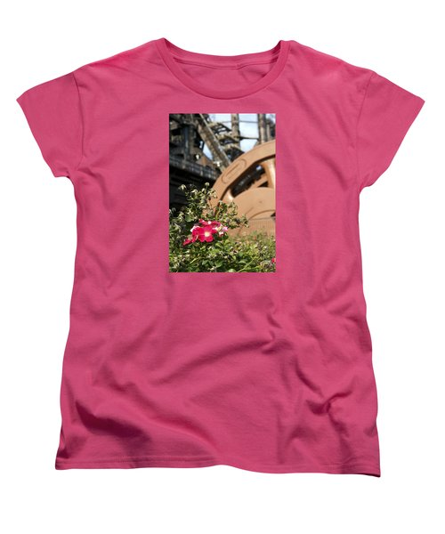 Flowers And Steel Women's T-Shirt (Standard Cut) by Michael Dorn