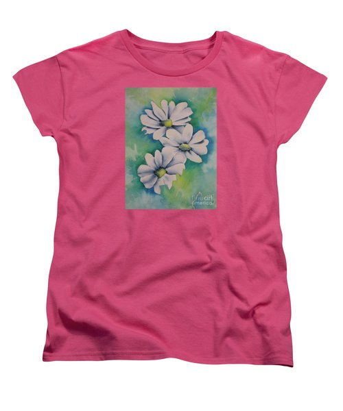 Women's T-Shirt (Standard Cut) featuring the painting Flowers For You by Chrisann Ellis