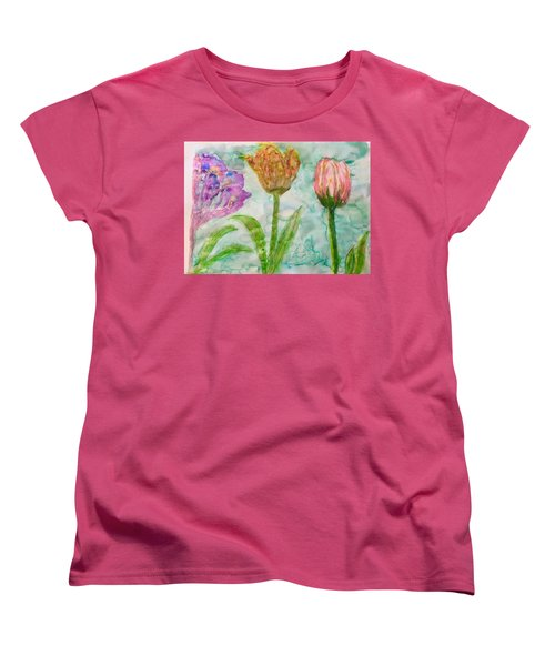 Tulips A'bloom Women's T-Shirt (Standard Cut)