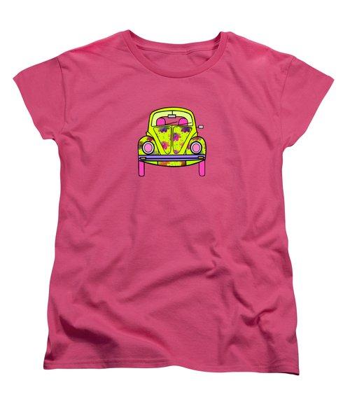 Flowers On Wheels Women's T-Shirt (Standard Cut) by Kathleen Sartoris