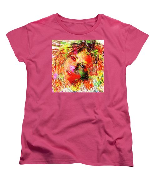 Flowery Shakira Women's T-Shirt (Standard Cut) by Navo Art