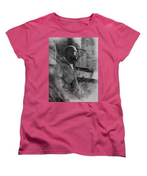 Women's T-Shirt (Standard Cut) featuring the drawing Reflections Of Floyd Mayweather by Noe Peralez