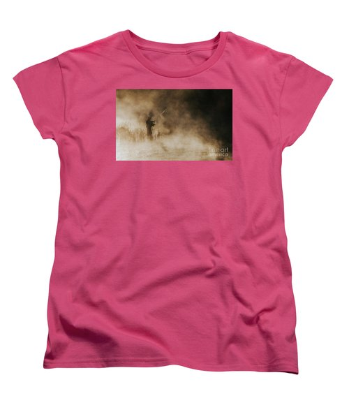 Women's T-Shirt (Standard Cut) featuring the photograph Flying Fishing by Iris Greenwell