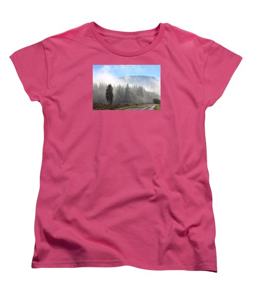 Fog On The Road To Fintry Women's T-Shirt (Standard Cut) by RKAB Works
