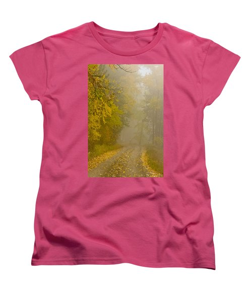 Foggy Autumn Morn Women's T-Shirt (Standard Cut) by Albert Seger