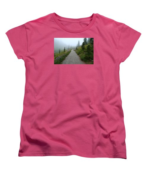 Women's T-Shirt (Standard Cut) featuring the photograph Foggy In Paradise by Lynn Hopwood