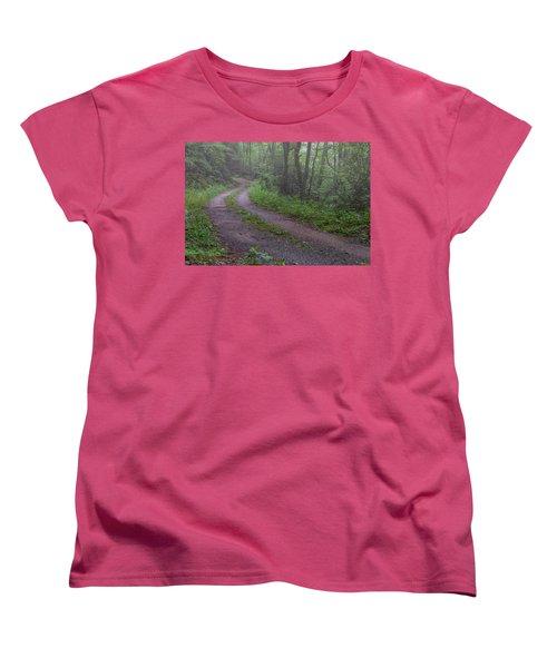 Foggy Road Women's T-Shirt (Standard Cut) by David Cote