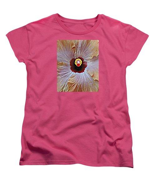 Folding Petals Women's T-Shirt (Standard Cut) by Peggy Stokes