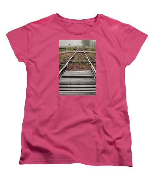 Women's T-Shirt (Standard Cut) featuring the photograph Following The Tracks by Monte Stevens