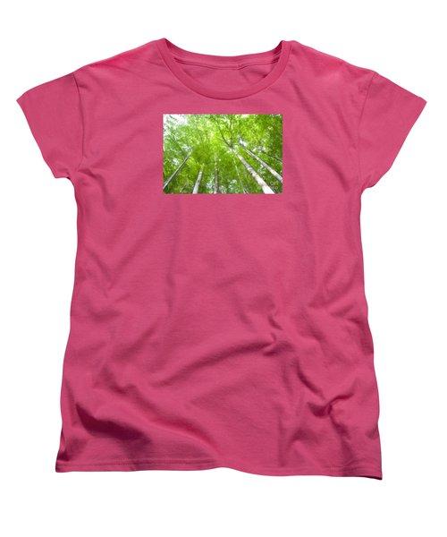 Women's T-Shirt (Standard Cut) featuring the photograph Forest 1 by Jean Bernard Roussilhe