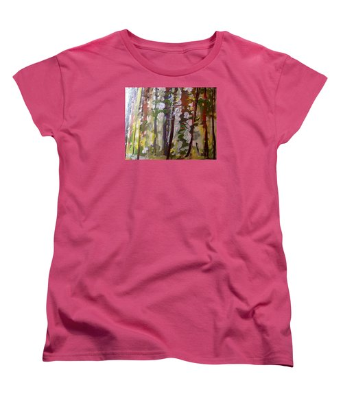 Forest Meeting Women's T-Shirt (Standard Cut) by Judith Desrosiers