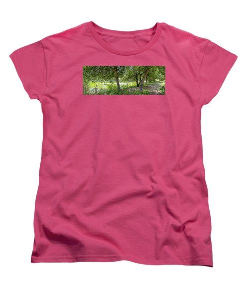 Forest Trail Women's T-Shirt (Standard Cut) by Arik Baltinester