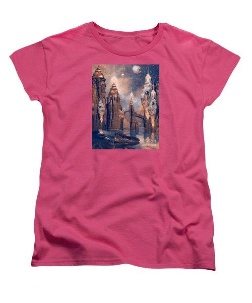 Women's T-Shirt (Standard Cut) featuring the digital art Forgotten Place by Alexa Szlavics