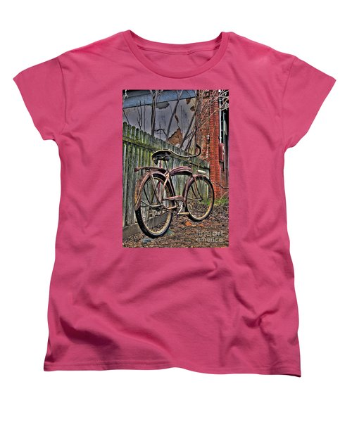 Women's T-Shirt (Standard Cut) featuring the photograph Forgotten Ride 2 by Jim and Emily Bush