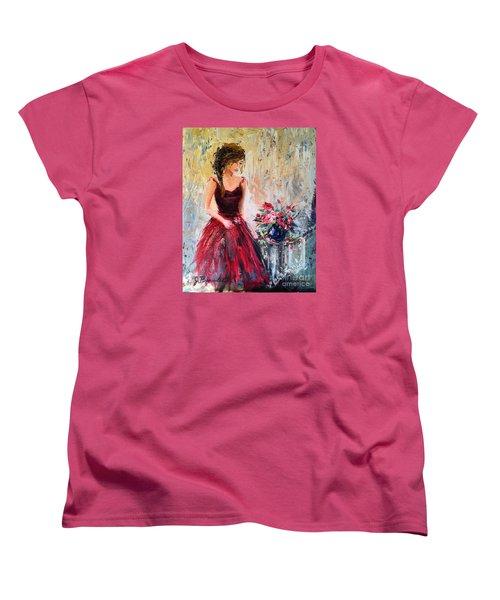 Women's T-Shirt (Standard Cut) featuring the painting Forgotten Rose by Jennifer Beaudet