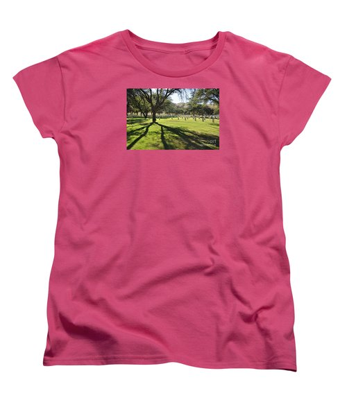 Fort Huachuca Post Cemetery Women's T-Shirt (Standard Cut) by Gina Savage