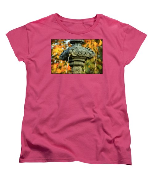Women's T-Shirt (Standard Cut) featuring the photograph Fountain At Union Park by Chris Berry