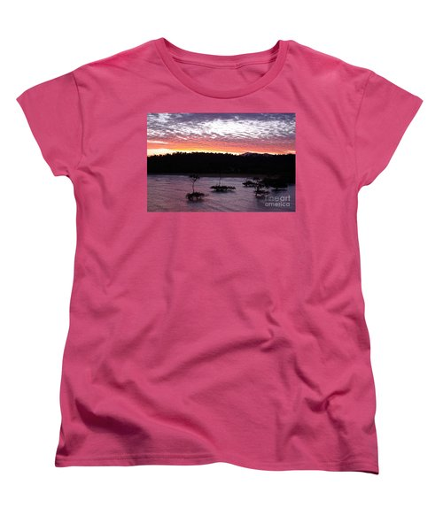 Four Elements Sunset Sequence 8 Coconuts Qld  Women's T-Shirt (Standard Cut) by Kerryn Madsen - Pietsch