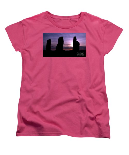 Women's T-Shirt (Standard Cut) featuring the photograph Four Stones Folly Clent Hills by Stephen Melia