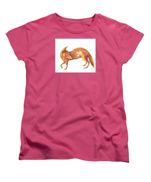 Women's T-Shirt (Standard Cut) featuring the painting Fox Trot by Tamyra Crossley