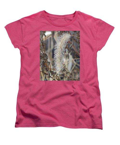 Women's T-Shirt (Standard Cut) featuring the photograph Foxtail Fur by Christina Verdgeline