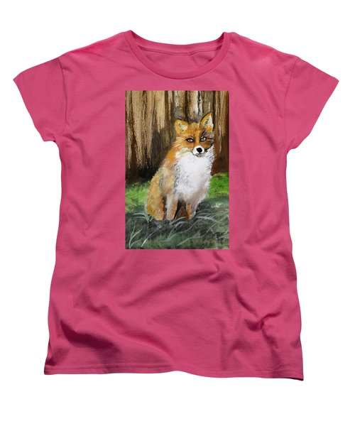 Foxy Lady Women's T-Shirt (Standard Cut) by Carole Robins
