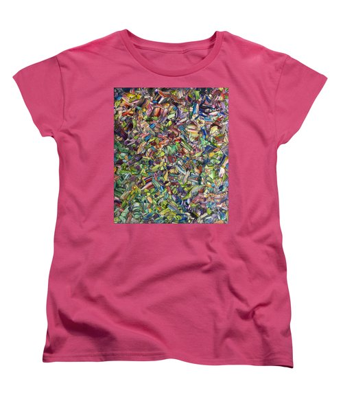 Women's T-Shirt (Standard Cut) featuring the painting Fragmented Spring by James W Johnson