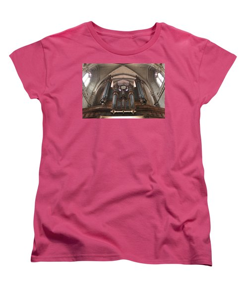 Women's T-Shirt (Standard Cut) featuring the photograph French Organ by Christin Brodie