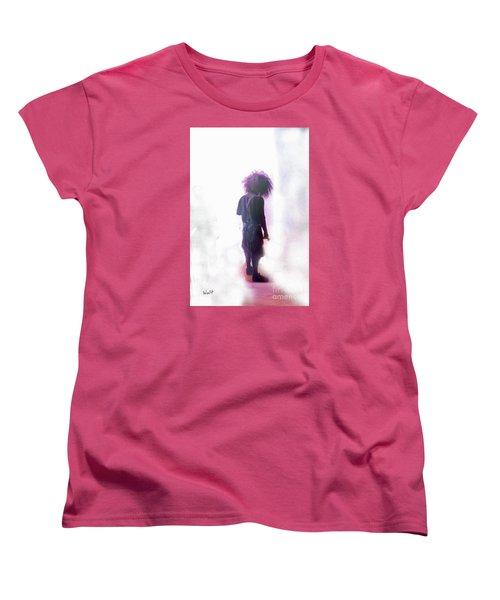 Women's T-Shirt (Standard Cut) featuring the digital art Frightdome Clown by Walter Chamberlain