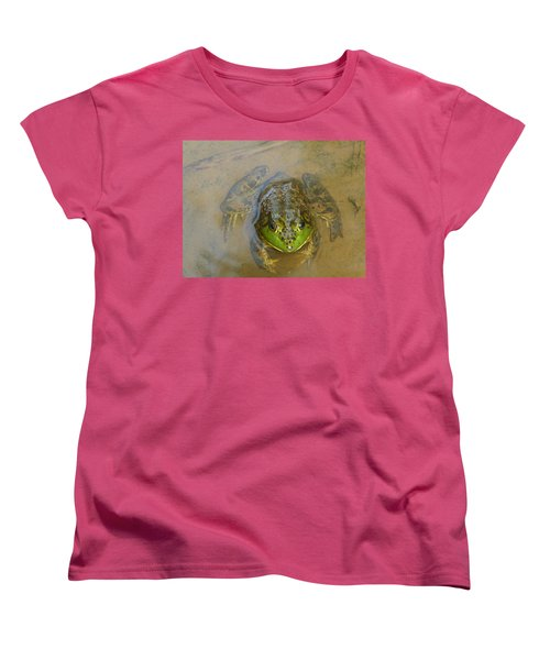 Frog Of Lake Redman Women's T-Shirt (Standard Cut) by Donald C Morgan
