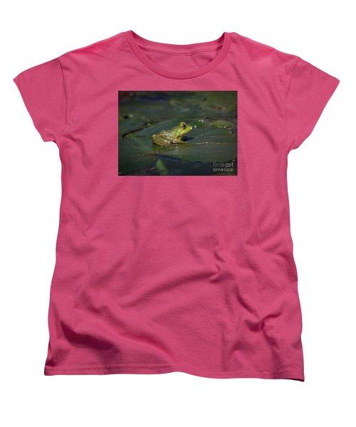 Froggy 2 Women's T-Shirt (Standard Cut) by Douglas Stucky