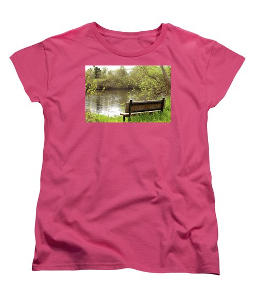 Women's T-Shirt (Standard Cut) featuring the photograph Front Row Seat by Art Block Collections
