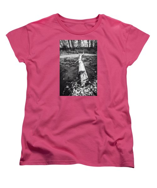 Women's T-Shirt (Standard Cut) featuring the photograph Frozen Landscape by Andy Crawford